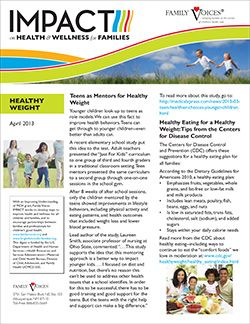 Healthy Weight Theme Update - April 2013
