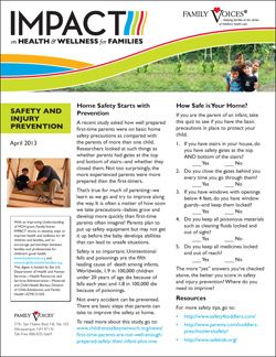 Safety and Injury Prevention - April 2013